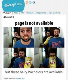 The 404 version of a dating site. http://blog.merrycode.com/404 via http://twitter.com/jadoon88