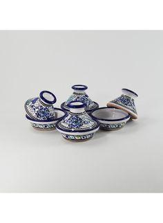 Le Souk Ceramique Aqua Fish Mini Tagines (set of 4)