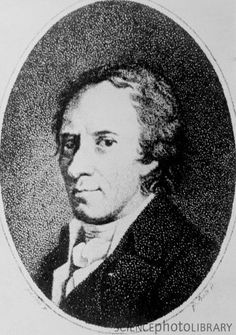 """Johann Elert Bode (1747-1826). German astronomer and celestial cartographer. He calculated the orbit of Uranus and gave the planet its name - Uranus was the father of Saturn. He is also known for Bode's Law, which isn't a law but a formula that describes the distances of the first seven planets from the Sun. (It doesn't work for Neptune.) (Science Photo Library) ©Mona Evans,  """"Bode and Bode's Law"""" http://www.bellaonline.com/articles/art42694.asp"""
