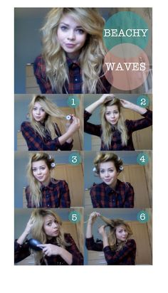 cheap skate: Beachy Waves Hair Tutorial ~ I've been wondering how I should put my bangs into rollers. That's very helpful. :)