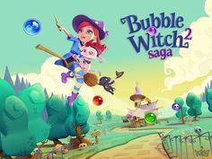Bubble Witch Saga 2 App by King .com Limited. Free Elimination Puzzle App.