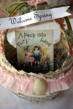 Welcome Spring basket