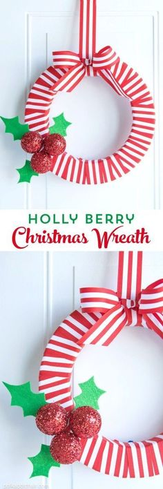 DIY Holly Berry Chri