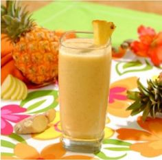 Ginger pineapple smoothie