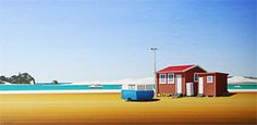 Brian Dahlberg // The Beer Fridge, Mangawhai Heads #Art #Landscape #Oil #Painting #NewZealand