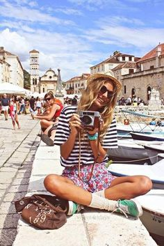 sock, holiday, summer styles, summer fashions, camera, summer travel, summer outfits, summer clothes, stripe