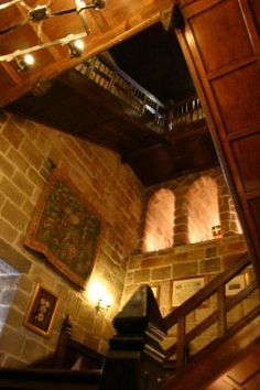 Langley Castle Hotel: Staircase up the tower