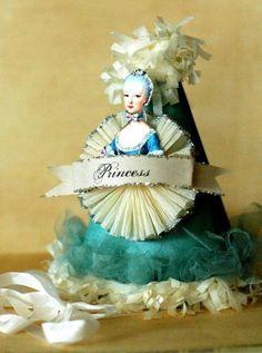 MARIE ANTOINETTE TIFFANY BLUE PRINCESS PARTY HAT ~<3K8<3~