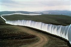 Running Fence by Christo