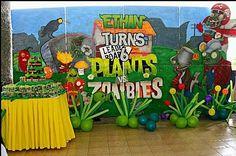 MuyAmeno.com: Fiestas Infantiles, Decoración Plantas vs Zombies