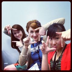 The girls of the Lizzie Bennet Diaries, staying square @ VidCon #squaresville