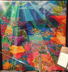 The Great Barrier Reef by Miki Murakami, Japan.  2013 Houston IQF, Photo by Quilt Inspiration