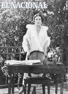 La escritora Venezolana Teresa de la Parra en su vivienda en Caracas.    ARCHIVO EL NACIONAL