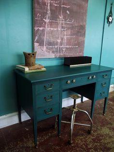 Teal Desk on Pinterest