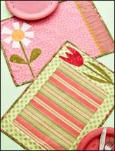 Flower Place Mats, only I think I will do mine oval, a modern rose, pinks,creams and greens