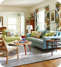 Use textiles and patterns to brighten your space - great for rentals! #homedecor #springintothedream