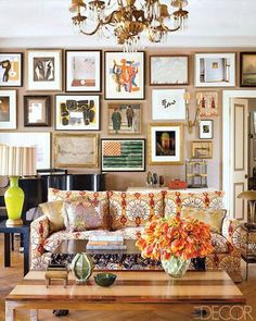 Organic placement of framed art