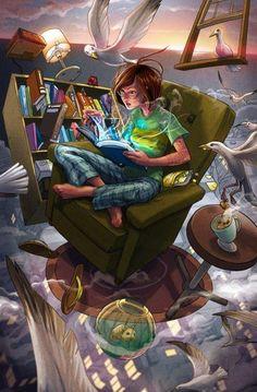 Adventure books, magic, color, imagin, the reader, art, librari, places, illustr