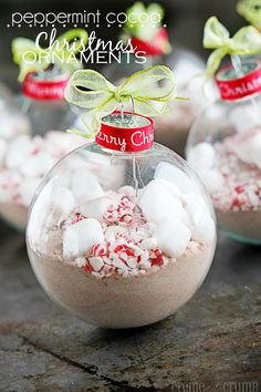 Peppermint Cocoa Christmas Ornaments