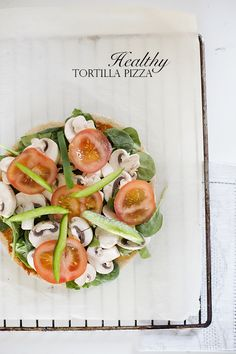Healthy Tortilla Pizza by Christina Greve