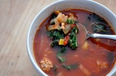 Paleo Portuguese Kale Soup. Low carb, high flavor! #Paleo