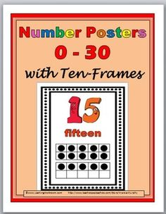 tenfram, math lesson, numbers, poster 030, childhood math, number poster, math idea, posters, school fun