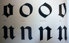 The four kinds of blackletter | Flickr - Photo Sharing!