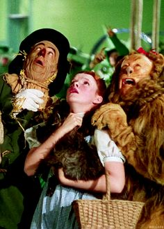 *THE SCARECROW, DOROTHY & THE COWARDLY LION ~ The Wizard of Oz, 1939....SURRENDER DOROTHY!