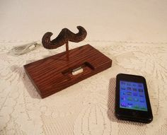 iPhone  iPod Dock  The Great Mustache  Charger and by woodguy32, $42.00