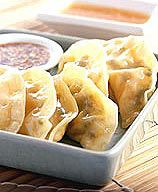 Steamed Vegetable Dumplings with Two Dipping Sauces