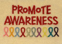 rais awar, fight, colors, cancer awareness, promot awar