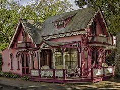Gingerbread style cottage at Methodist Campground Oak Bluffs in Martha's Vinyard