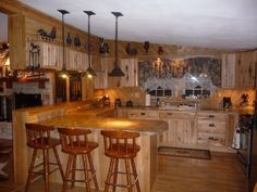 Double Wide Mobile Homes Interior | Rustic log cabin in Lubbock Texas, A double wide mobile home that my ...