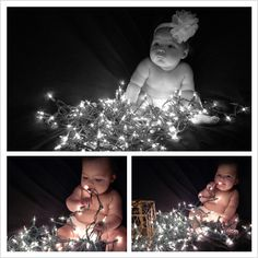 Christmas Light Picture Baby