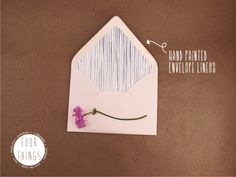Hand painted envelope liners | FourThings