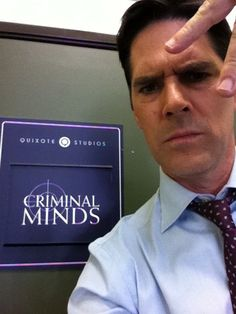 "Thomas Gibson on the set of ""Criminal Minds"""