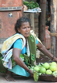 Fruit Seller in Madurai, Tamil Nadu.  Kerala , India