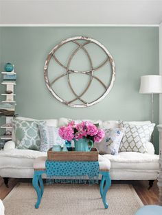 wall colors, wall art, living rooms, green walls, room decorating ideas, paint colors, old barns, glass paint, painted walls