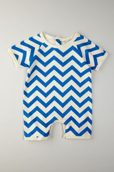 Organic Cotton Chevron Romper.