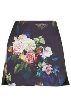 Blur Rose Pelmet Skirt