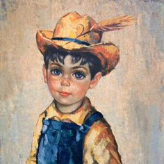 Little Country Boy Vintage 1960s Medeiros.