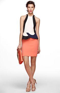 very cool dvf peplum dress