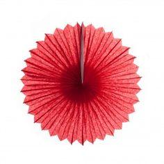 Red Decorative Paper Pinwheel Tissue Fans