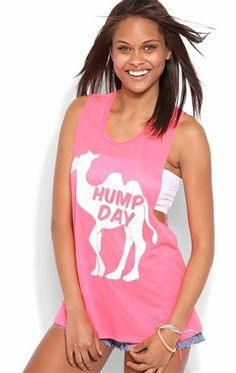 Deb Shops Tank Top with Double Twist Back and Glitter #HumpDay Screen $10.00