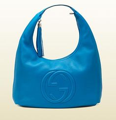 soho riviera blue colour leather hobo