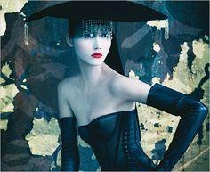 wan dan, model, style, pirelli calendar, glove, calendar 2008, fashion photographi, fashion photography, patrick demarchelier