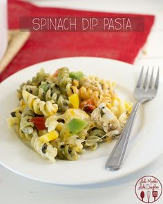 Spinach Dip Pasta