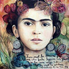 Frida with words art print