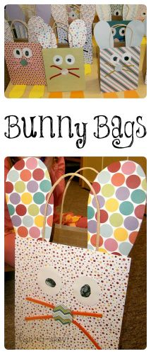 Easter Craft for Kids - Bunny Bags - Fun-A-Day!