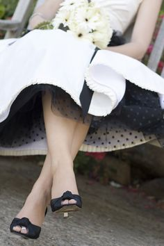 black polka dot petticoat!